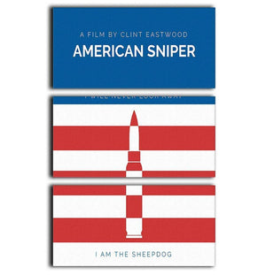 American Sniper Minimal Movie 3 Split Panel Canvas Print - Canvas Art Rocks - 1