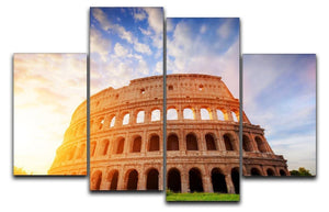 Amphitheatre in sunrise light 4 Split Panel Canvas  - Canvas Art Rocks - 1