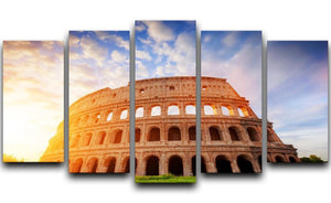 Amphitheatre in sunrise light 5 Split Panel Canvas  - Canvas Art Rocks - 1