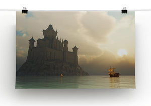 Ancient vessel at sunrise Canvas Print or Poster - Canvas Art Rocks - 2