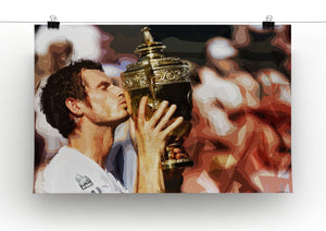 Andy Murray Wimbledon Winner Print - Canvas Art Rocks - 2