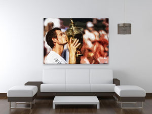 Andy Murray Wimbledon Winner Print - Canvas Art Rocks - 4