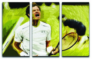 Andy Murray Wimbledon 3 Split Panel Canvas Print - Canvas Art Rocks - 1