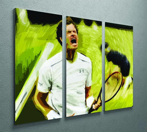 Andy Murray Wimbledon 3 Split Panel Canvas Print - Canvas Art Rocks - 2