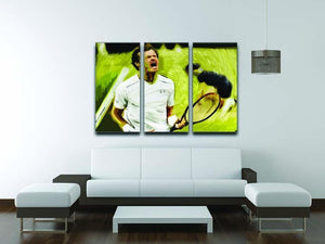 Andy Murray Wimbledon 3 Split Panel Canvas Print - Canvas Art Rocks - 3