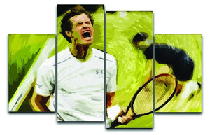 Andy Murray Wimbledon 4 Split Panel Canvas  - Canvas Art Rocks - 1
