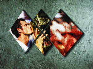 Andy Murray Wimbledon Winner 4 Square Multi Panel Canvas - Canvas Art Rocks - 2