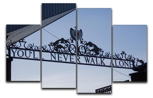 Anfield Gates 4 Split Panel Canvas  - Canvas Art Rocks - 1