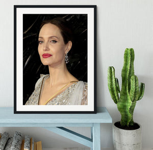 Angelina Jolie Framed Print - Canvas Art Rocks - 1