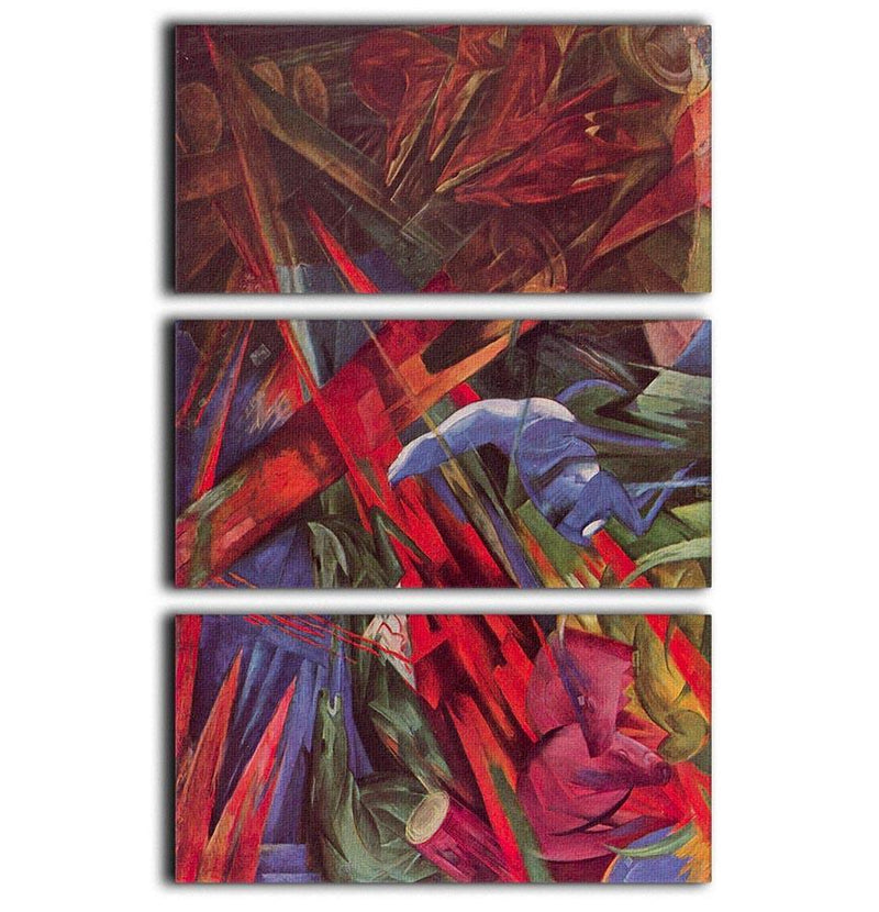 Animal Fates by Franz Marc 3 Split Panel Canvas Print - Canvas Art Rocks - 1