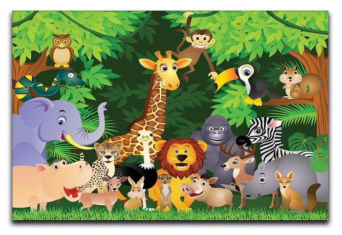 Animal cartoon Canvas Print or Poster