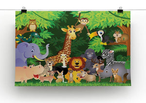 Animal cartoon Canvas Print or Poster - Canvas Art Rocks - 2