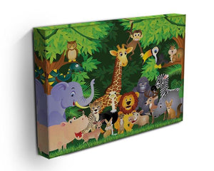 Animal cartoon Canvas Print or Poster - Canvas Art Rocks - 3