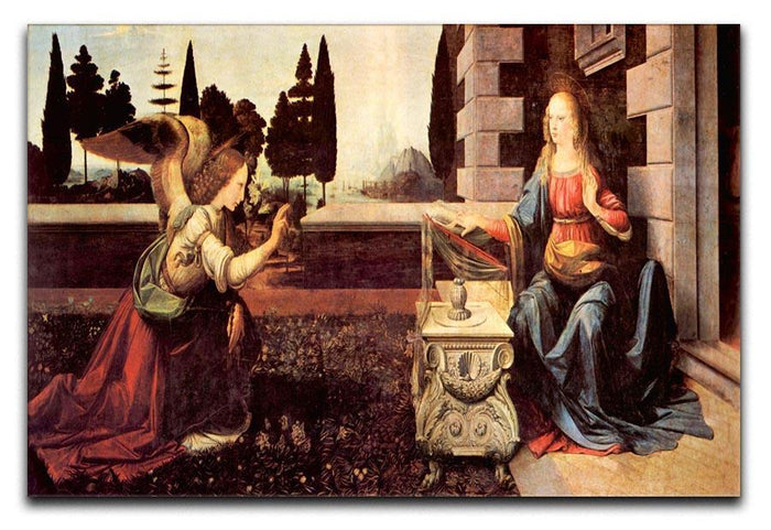 Announcement to Maria 2 by Da Vinci Canvas Print or Poster