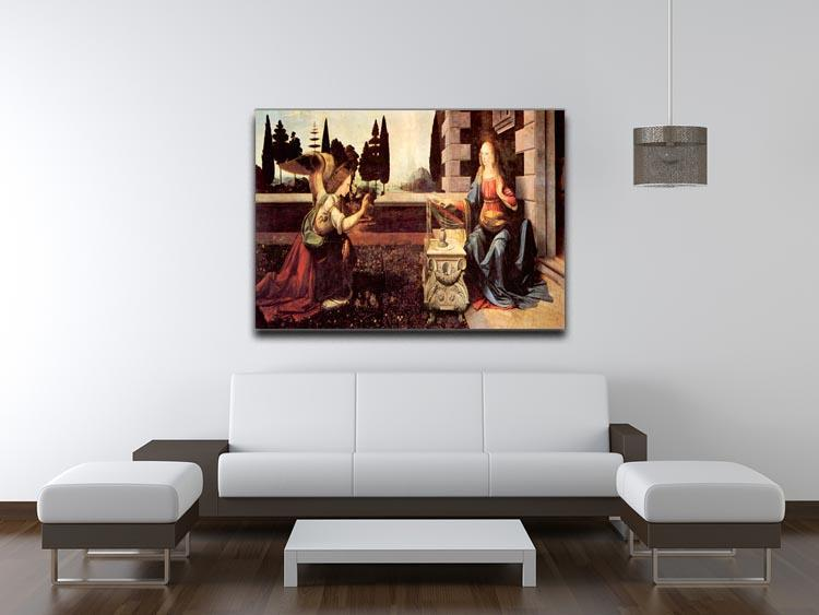 Announcement to Maria 2 by Da Vinci Canvas Print & Poster - Canvas Art Rocks - 4