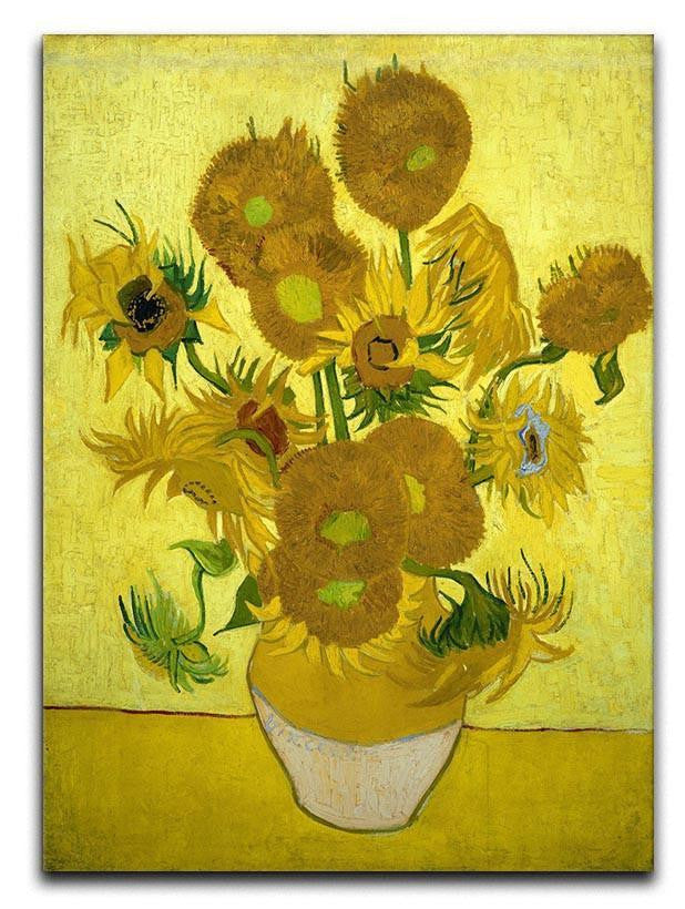 Another vase of sunflowers Canvas Print or Poster
