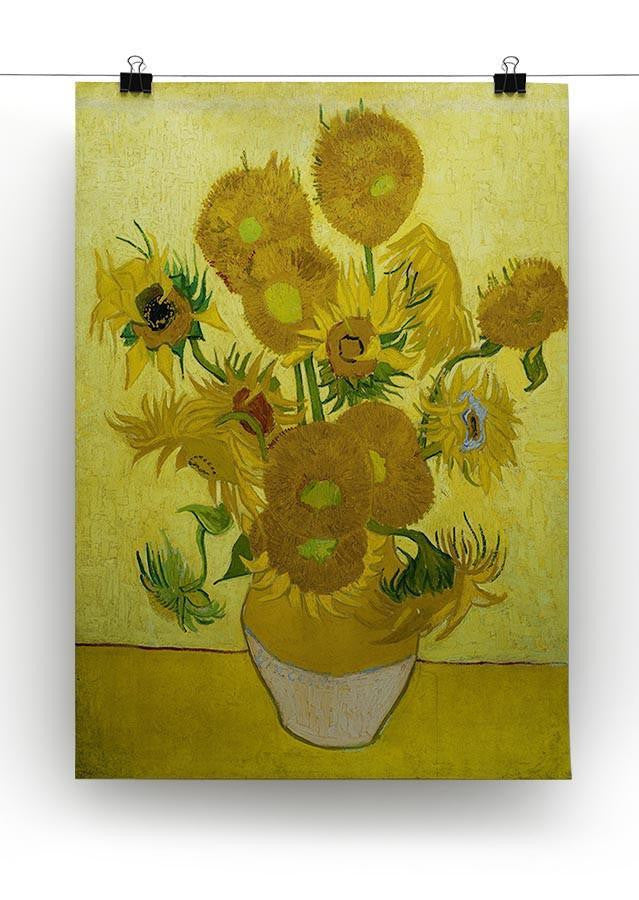Another vase of sunflowers Canvas Print & Poster - Canvas Art Rocks - 2