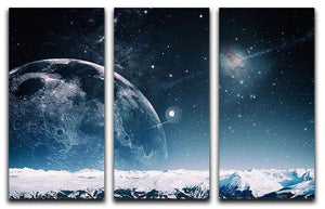 Another world landscape 3 Split Panel Canvas Print - Canvas Art Rocks - 1