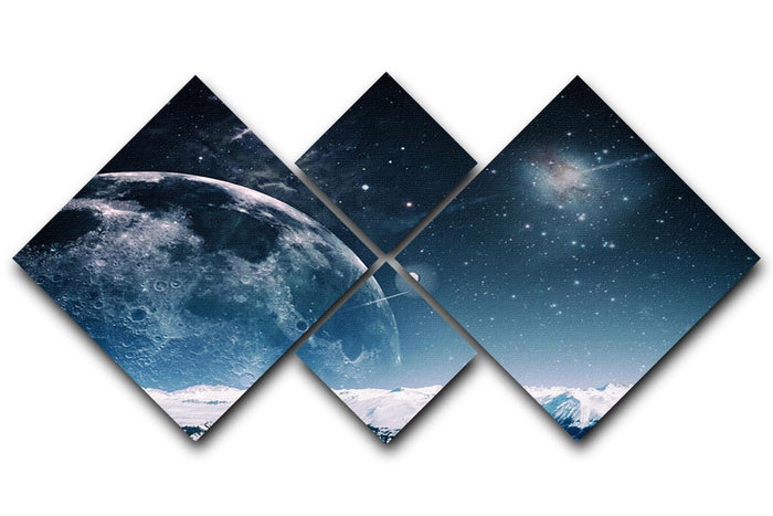 Another world landscape 4 Square Multi Panel Canvas