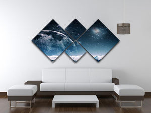 Another world landscape 4 Square Multi Panel Canvas - Canvas Art Rocks - 3