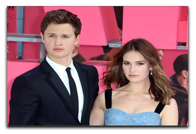 Ansel Elgort and Lily James Baby Driver Canvas Print or Poster  - Canvas Art Rocks - 1