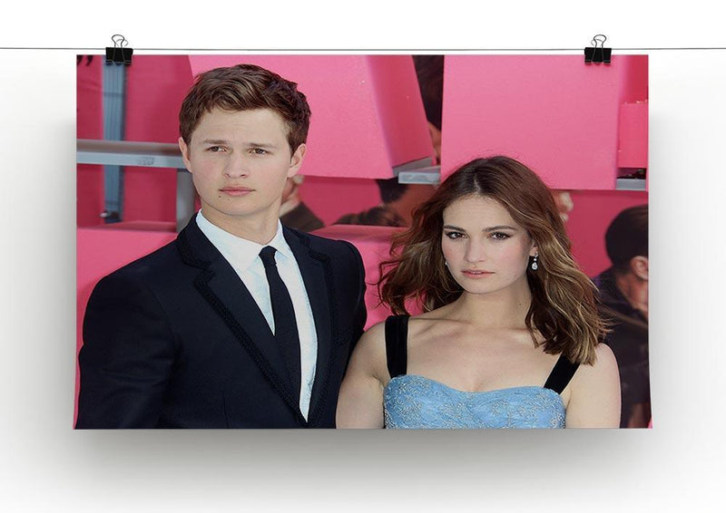 Ansel Elgort and Lily James Baby Driver Canvas Print or Poster - Canvas Art Rocks - 2
