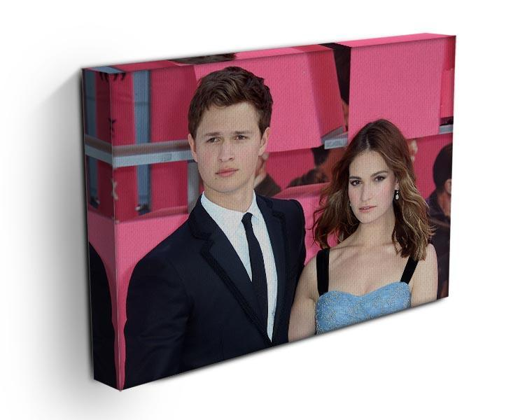 Ansel Elgort and Lily James Baby Driver Canvas Print or Poster - Canvas Art Rocks - 3