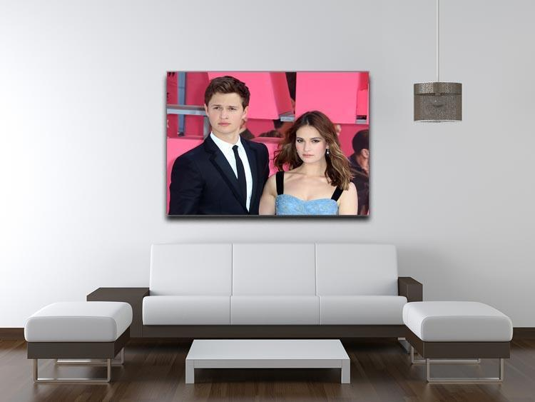 Ansel Elgort and Lily James Baby Driver Canvas Print or Poster - Canvas Art Rocks - 4