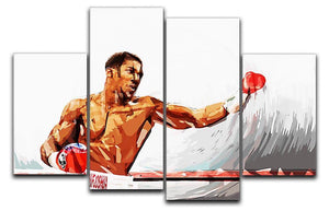 Anthony Joshua 4 Split Panel Canvas  - Canvas Art Rocks - 1