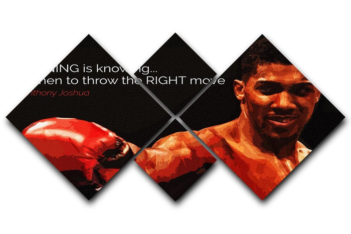 Anthony Joshua Winning Is Knowing 4 Square Multi Panel Canvas