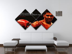 Anthony Joshua Winning Is Knowing 4 Square Multi Panel Canvas - Canvas Art Rocks - 3