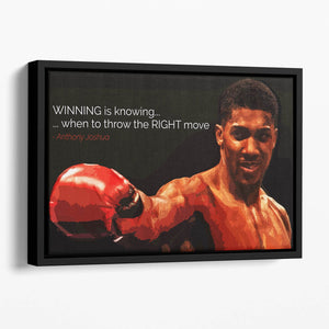 Anthony Joshua Winning Is Knowing Floating Framed Canvas
