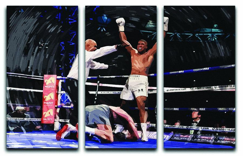 Anthony Joshua vs Klitschko 3 Split Panel Canvas Print - Canvas Art Rocks - 1