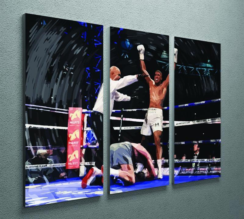 Anthony Joshua vs Klitschko 3 Split Panel Canvas Print - Canvas Art Rocks - 2