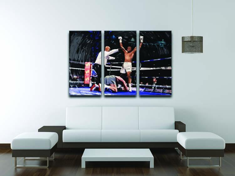 Anthony Joshua vs Klitschko 3 Split Panel Canvas Print - Canvas Art Rocks - 3