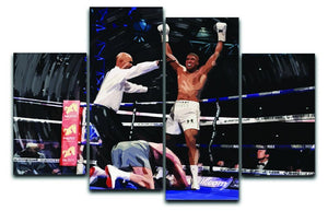 Anthony Joshua vs Klitschko 4 Split Panel Canvas  - Canvas Art Rocks - 1