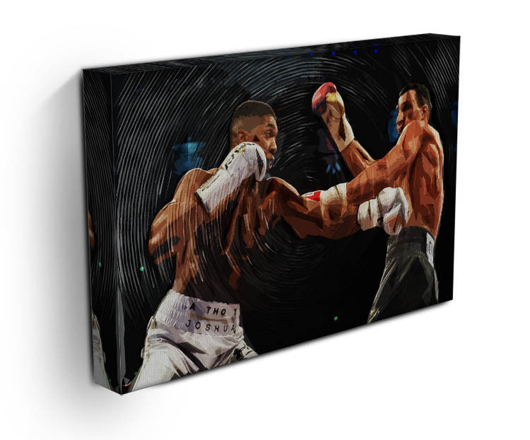 anthony joshua vs klitschko punch canvas print canvas art rocks