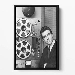Anthony Newley in the recording studio Floating Framed Canvas