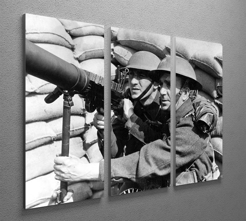 Anti-aircraft station 3 Split Panel Canvas Print - Canvas Art Rocks - 2