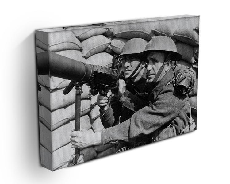 Anti-aircraft station Canvas Print or Poster - Canvas Art Rocks - 3