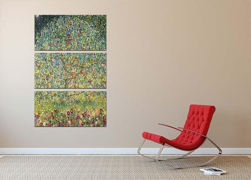 Apple Tree by Klimt 3 Split Panel Canvas Print - Canvas Art Rocks - 2
