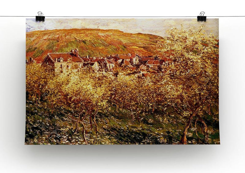 Apple Trees In Blossom by Monet Canvas Print & Poster - Canvas Art Rocks - 2