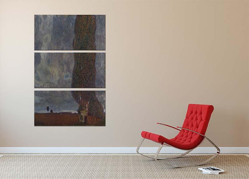 Approaching Thunderstorm by Klimt 3 Split Panel Canvas Print - Canvas Art Rocks - 2