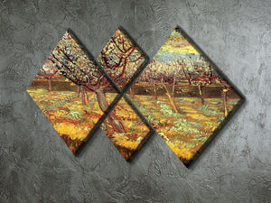 Apricot Trees in Blossom by Van Gogh 4 Square Multi Panel Canvas - Canvas Art Rocks - 2
