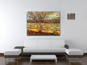 Apricot Trees in Blossom by Van Gogh Canvas Print & Poster - Canvas Art Rocks - 4