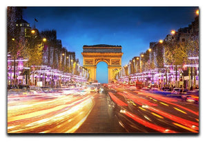Arc de triomphe Paris city at sunset Canvas Print or Poster  - Canvas Art Rocks - 1