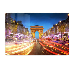 Arc de triomphe Paris city at sunset HD Metal Print