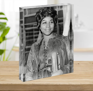 Aretha Franklin Acrylic Block - Canvas Art Rocks - 2