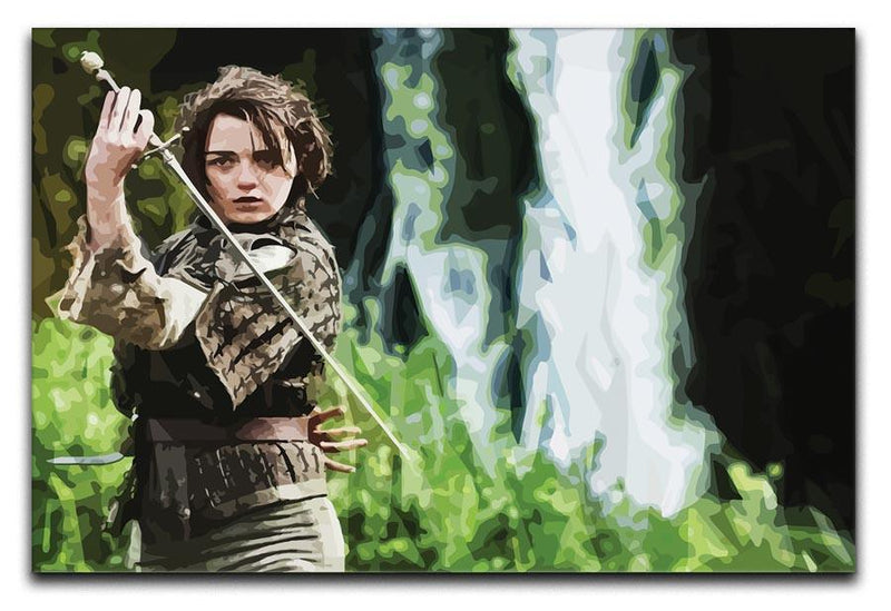 Arya from Game of Thrones Print - Canvas Art Rocks - 1
