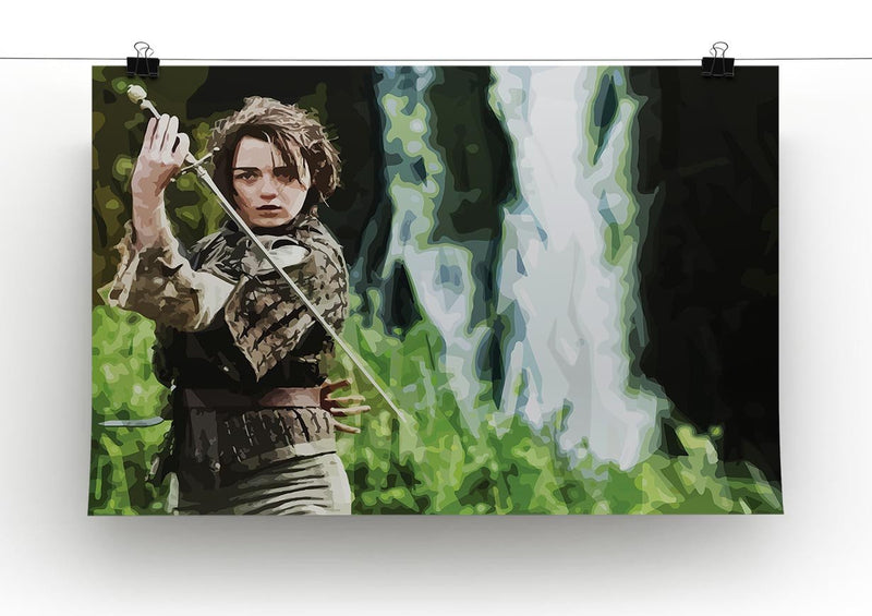 Arya from Game of Thrones Print - Canvas Art Rocks - 2